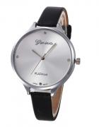Zegarek damski Geneva Platinium czarny srebrny...