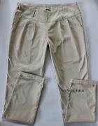 spodnie chinosy beżowe S M