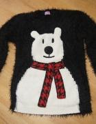 Sweter sweterek włochacz miś F&F rozm 134...