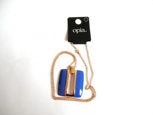 długi naszyjnik Opia nowy niebieski