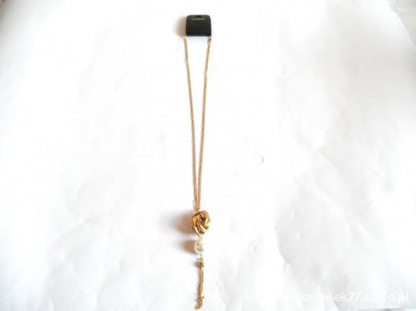 Naszyjniki naszyjnik długi z perłą A