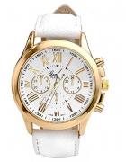 Zegarek damski Geneva biały złoty rzymskie...