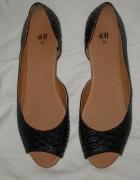 Czarne lekkie balerinki HiM 36...