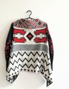 Boho aztecki sweterek kardigan S M L azteckie wzór
