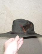 Prawdziwy angielski kapelusz skóra naturalna 56
