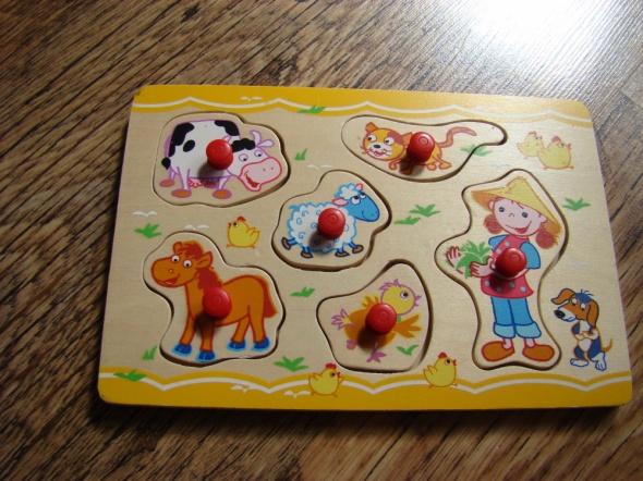 Zabawki Puzzle drewniane