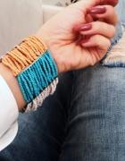 Kolorowa bransoletka z koralików glamour
