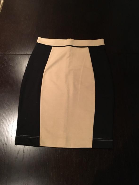 Spódnice Beżowo czarna ołówkowa spodnica