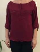 Bordowa bluzka