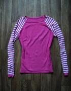 Jak nowy uroczy różowy sweterek paski XS S M