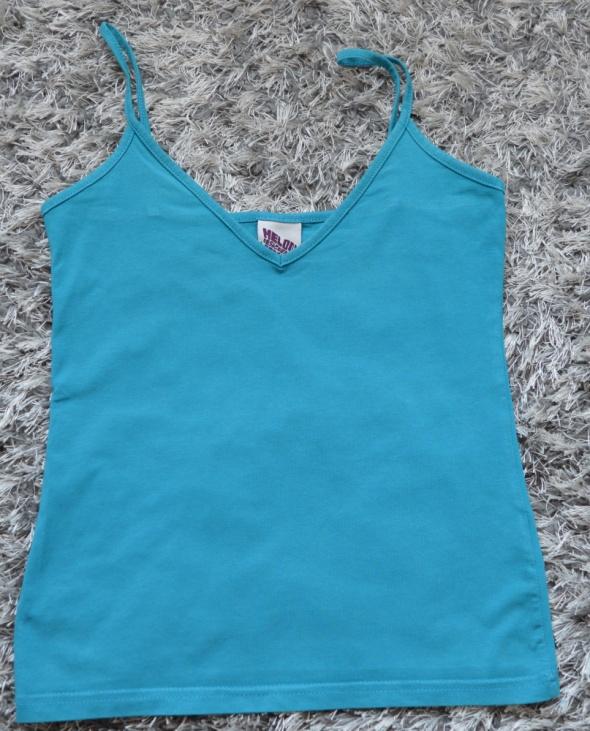 Koszulki Koszulka na ramiączkach niebieska sexi