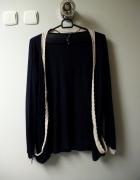 Granatowy sweterek dłuższy na jesień...
