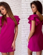 Różowa sukienka M