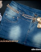 nowa jeansowa spódniczka