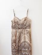 Reserved sukienka kopertowa letnia delikatna 40 42