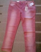 modne barwione spodnie 44
