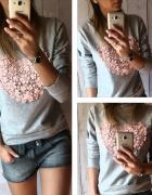 bluza bluzka serce haft
