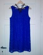 Niebieska sukienka H&M rozmiar 36 S