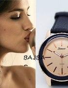 Zegarek geneva skórzany pasek klasyka...