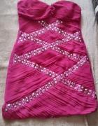 Sukienka rozowa nipy ćwieki roz L