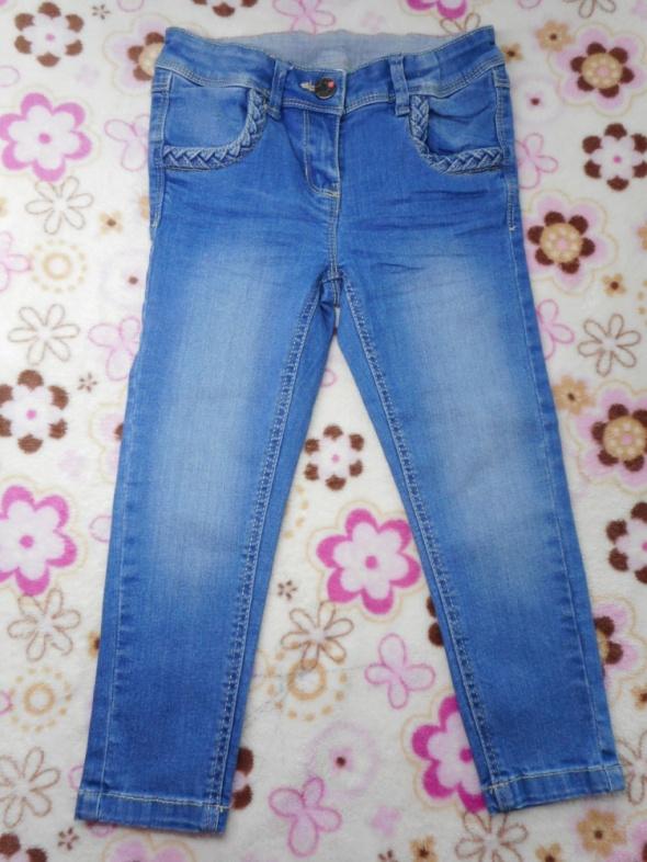 Spodnie dla dziewczynki jeansy 116...