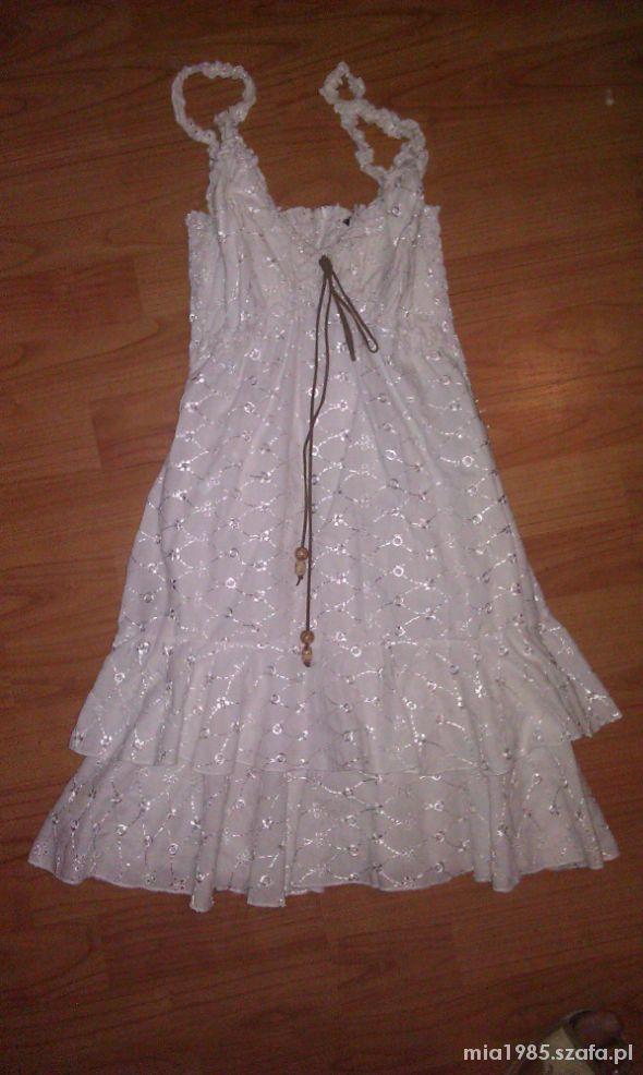 Suknie i sukienki ŚLICZNA LETNIA KORONKA