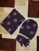 Zestaw komplet czapka szalik rękawiczki