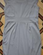 Szarobeżowa cappucino sukienka M L