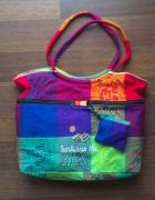 Kolorowa oryginalna torebka z Meksyku NOWA