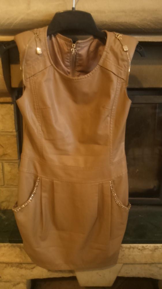 sukienka z ecoskory xs s