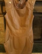 sukienka z ecoskory xs s...