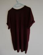 Koszulka bluzka burgundowa oversize...