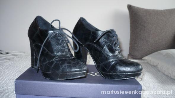 Botki czarne piękne niezniszczone botki 37 modne parfois