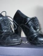 czarne piękne niezniszczone botki 37 modne parfois...