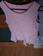 koszulka bluzka koronkowa baskinka...
