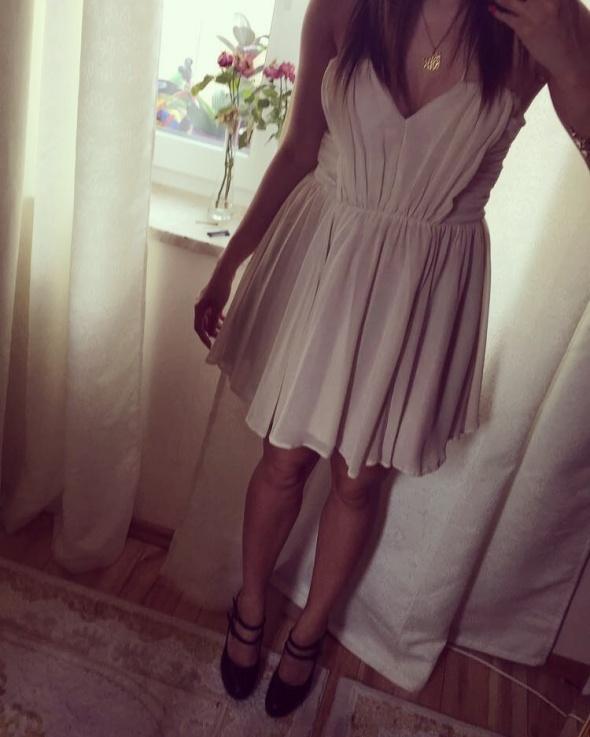 Elegancka sukienka dress ecru...