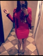 Imprezowo Party czerwona sukienka red dress...