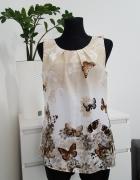 beżowo brązowa bluzka w motyle Wallis