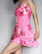 New Look różowa kwiaty mini rozm 34 XS