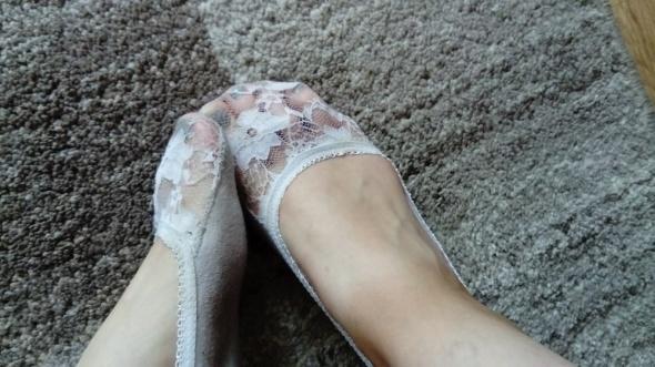 Słodkie stopki do balerinek fetysz
