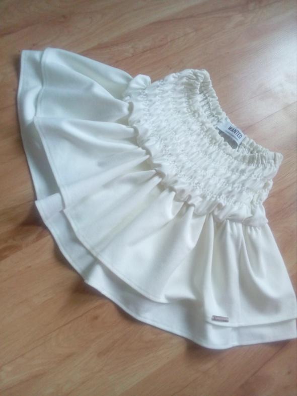 Spódnice Biała falbany