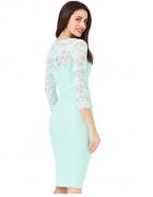 Elegancka pastelowa miętowa sukienka midi...
