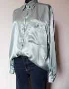 Atłasowa pistacjowa koszula r XL...