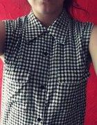 Koszula w czarno biała kratkę