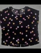 Czarny crop top apples h&m...