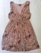 Sukienka H&M motyle slodka S M