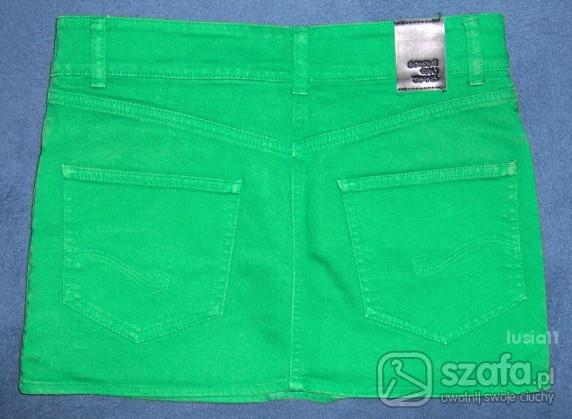 Spódnice mini spódnica jeans SPARKZ RAW JEANS M L zielona