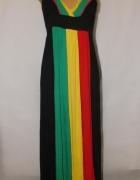 Sukienka maxi w kolorach reggae Rozmiar 38...