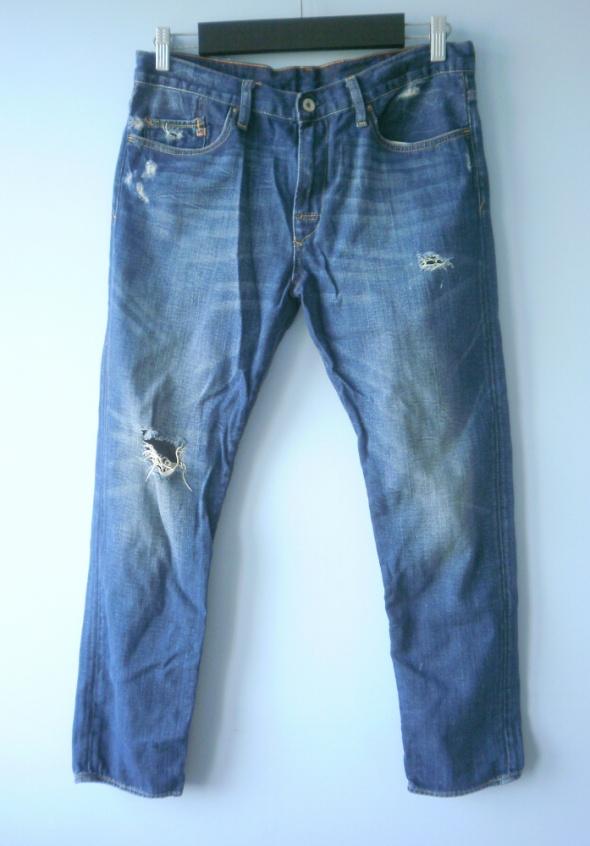 Spodnie Ralph Lauren jeansy boyfriend z dziurami destroyed