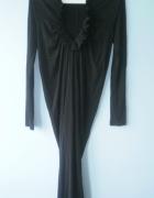 All Saints nowa sukienka czarna minimalizm midi